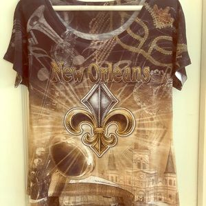 Tops - New Orleans vintage style top. New